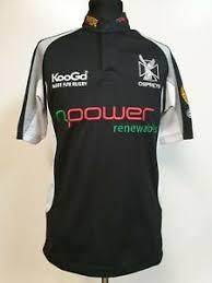 Details About Bb360 Mens Kooga Ospreys Npower Black Grey S Sleeve Rugby Shirt Uk S Eu 45