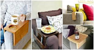 diy sofa arm table ideas diy crafts
