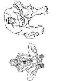 We've seen recreations for iron man, batman, hulk, thor and many. Parentune Free Printable Hulk Spiderman Coloring Picture Assignment Sheets Pictures For Child