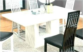 perfect ideas white marble top dining table set round britney