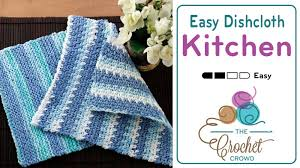 Easy Crochet Dishcloth Patterns Enchanting Crochet Easy Dishcloth Tutorial The Crochet Crowd