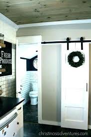 sliding barn door in kitchen pantry terrific outdoor doors
