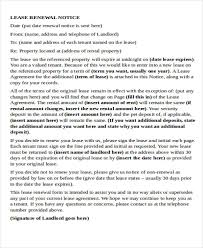 Lease Renewal Letter Inspiration Gallery Of Sample Letter To Verify End Of Lease Landlords Notice Of
