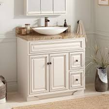 36 halifax vessel sink vanity white bathroom within the awesome and also gorgeous antique white bathroom