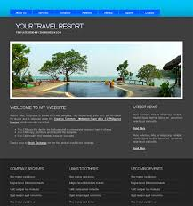 Templates For Websites Simple Free Web Templates For Travel Websites Website Templates Blog