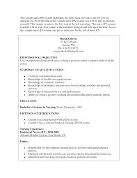 Sample Rn Resumes Free Resumes Tips