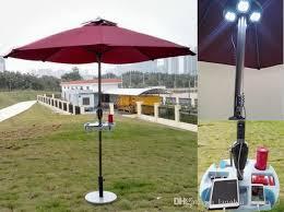 solar sun umbrella with solar panels charger for iphone ipad etc bar umbrella patio and