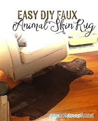 faux animal skin rugs easy faux animal skin rug create an awesome accent rug with just