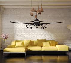 4028 3d airplane wall stickers muraux wall decor airplane wall art decal decoration vinyl stickers removable