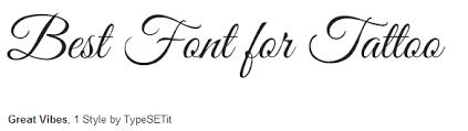 Fonts For Tattoos 70 Best Tattoo Fonts
