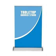 Retractable Display Stands Breeze 100 Tabletop Banner Stand Banner Stands Trade Show Exhibits 64