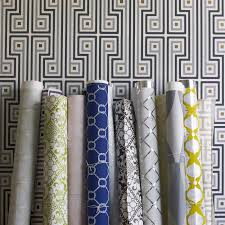 greek key wallpaper  modern décor  pillows  jonathan adler