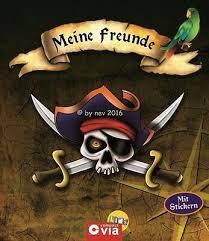 Mein Freundebuch Piraten Kinder Poesiealbum Sprüche Erinnerung