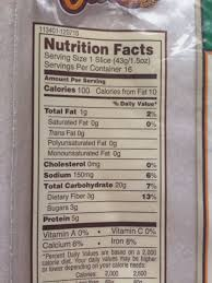 nature s own bread honey wheat calories nutrition ysis pepperidge farm whole grain bread nutrition label pepperidge farm whole grain bread
