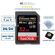 Thẻ nhớ SD Sandisk 32Gb - Tốc độ 95 Mb/s - Dùng cho máy ảnh , máy quay -  FullHDShop - Thẻ nhớ máy ảnh Nhãn hàng No Brand