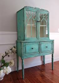 Hutch Display Cabinet Sold To Meghan Antique Hand Painted Shabby Chic Distressed