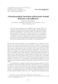 Psychoanalysis and sexual aggression