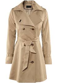 beige belt double ted chinlon long trench coat