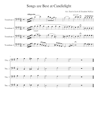 The music needs to match your intro's graphics. Songs Are Best At Candlelight Horn Intro Sheet Music For Trombone Mixed Quartet Musescore Com