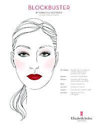 Elizabeth Arden Blockbuster Face Chart Makeup Face Charts