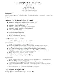 Sample Of Clerical Resume Download Clerical Work Resume Sample ...