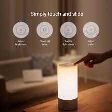 original xiaomi yeelight bedside lamp rgb wireless touch control night light for cellphone bedside lighting