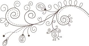ポップでかわいい花のイラストフリー素材no1105白黒かわいい絵5
