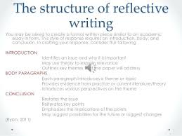 how to write academic essay examples critical reflective writing  how