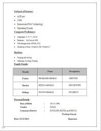 Marriage Biodata Template Lovely Bio Data Sample For Job Best Sample