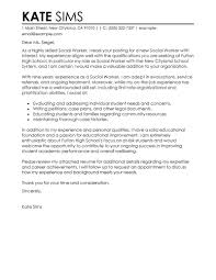 Resume Examples Templates Cover Letter For Social Worker Entry