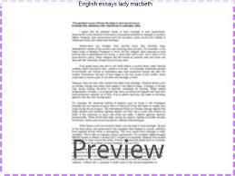 english essays lady macbeth custom paper service english essays lady macbeth criminal law essay question be essay organizer pdf videos good eating