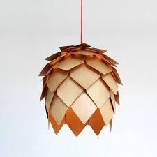 flower pendant light wood 25 cm