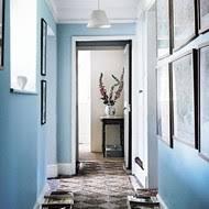 Pale Blue Hallway