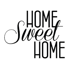 Small Picture Wall Sticker Home Sweet Home 55cm x 60cm