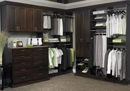 Good Size For Master Bedroom Closet With Dark Brown Color Using Storage