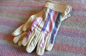 las striped garden gloves s m the