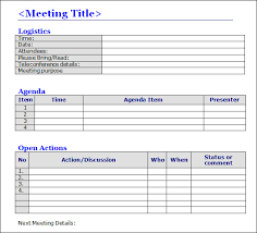 Meeting Templates Word meeting minutes templates Google Search PTSO Ideas Pinterest 18