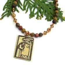 st francis catholic necklace