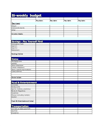 Excel Weekly Budget Template Bi Weekly Personal Budget Template ...