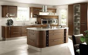 open kitchen designs with island. Awesome Modern Open Kitchen Design With Brown Wooden Cabinet And Backsplash  Along Elegant Island Behind Stove The Top Also Glass Door Corner Designs N