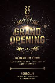 Poster Design Party Grand Opening Party Flyer By Hotpin On Creativemarket