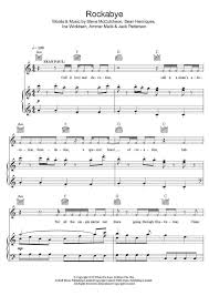 sheet music for kids rockabye piano sheet music onlinepianist
