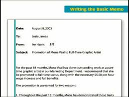 Memos Business The Key Forms Of Business Writing Basic Memo