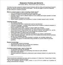 Research Document Template Research Report Format Barca Fontanacountryinn Com