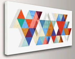mid century modern canvas wall art