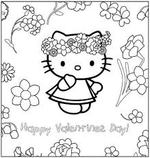 Valentines day is a very topic or helps children to if you want, you can print many other coloring pages along the hello kitty valentine's day theme on our site and to make small coloring books for. Hello Kitty Valentine Coloring Pages Coloring Home