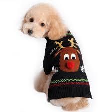 Christmas Red Nose Deer Pattern <b>Pet</b> Sweater Sale, Price & Reviews