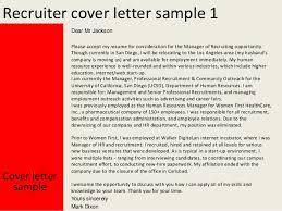 Best Solutions Of Cover Letter Sample For Recruiter Job For Resume