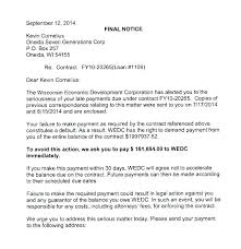 Payment Due Letter Template