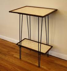 mcm hairpin side table with shelf 2 | Picked Vintage